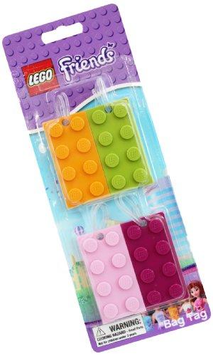 LEGO L454 – Portachiavi a forma di mattoncini lego, 4 diversi colori, serie Friends