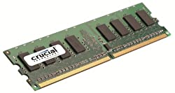 Crucial Technology CT12864AA800 1 GB 240-pin DIMM DDR2 PC2-6400 CL=6 Unbuffered NON-ECC DDR2-800 1.8V 128Meg x 64 Memory