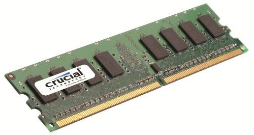 Crucial Simm Memoria RAM, DDRII, PC667, 2GB, CL5, Nero