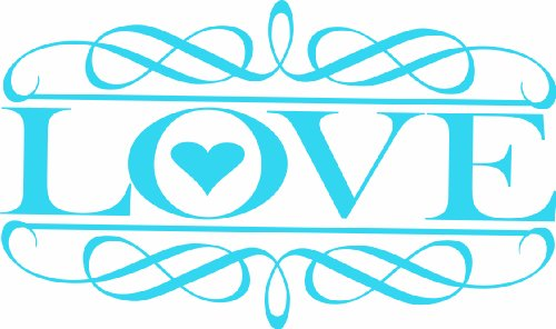 Design with Vinyl Design 178 - Baby Blue Love Sign Peel and Stick Sticker Vinyl Wall Decal, 18-Inch By 30-Inch, Baby Blue