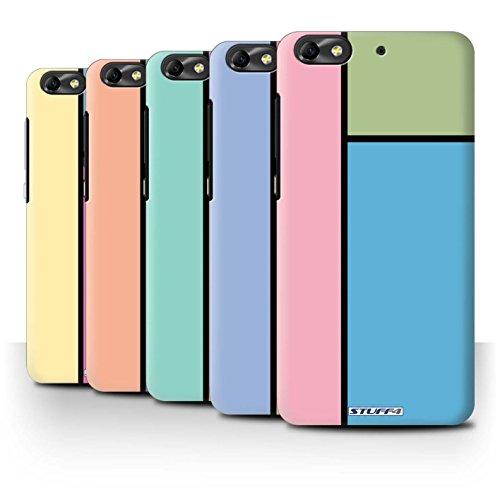 Custodia/Cover Rigide/Prottetiva STUFF4 stampata con il disegno Piastrelle Pastello per Huawei G Play Mini - 14pcs Confezione