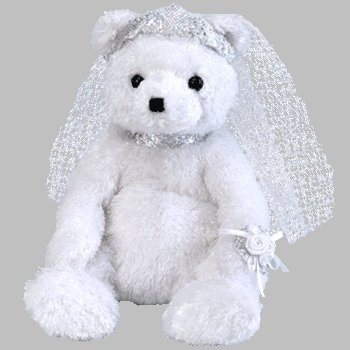 TY Beanie Babies BRIDE the Bear Beanies