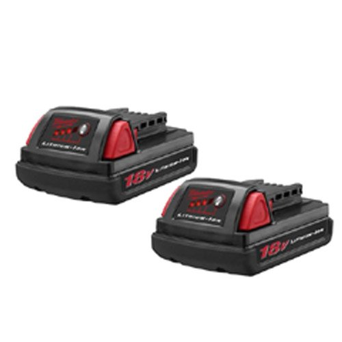 Milwaukee 48-11-1815 M18 Compact LITHIUM-ION Batteries 2 Pack