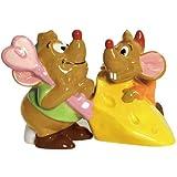 Westland Giftware Ceramic Magnetic Salt and Pepper Shaker Set, Disney Gus Gus and Jaq, 3.25-Inch, Set of 2