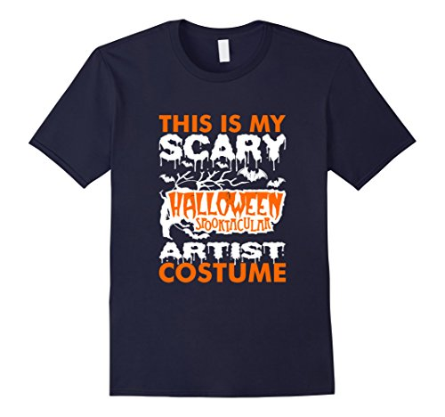 [Men's My Scary Halloween Spooktacular Artist Costume Tsh Medium Navy] (Artist Costumes Halloween 2016)
