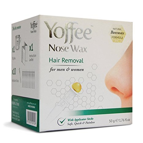 Yoffee Nose Hair Removal with Natural Beeswax Formula. Safe, Quick and Painless 50g (Nostril Wax compare prices)