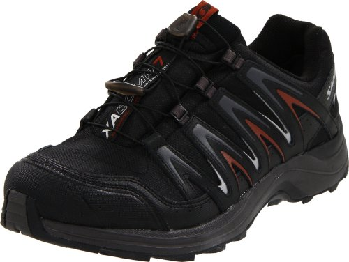 539f03f4728d Salomon Men s XA Comp 7 WP Trail Running ShoeBlack AutobahnDeep Red13 M US