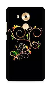 Amez designer printed 3d premium high quality back case cover for Huawei Mate 8 (Abstract Dark 23)