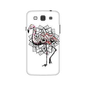 The Racoon Lean Fractal Flamingo hard plastic printed back case / cover for Samsung Galaxy Mega 5.8
