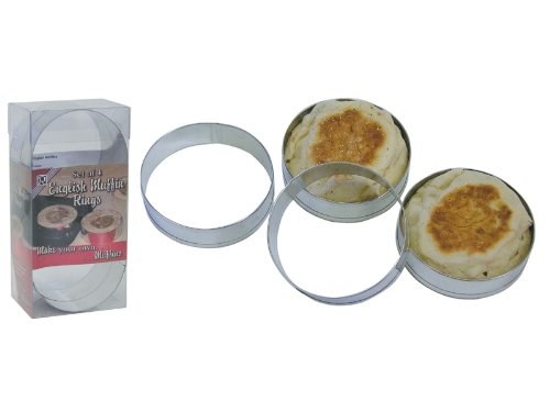 R & M 2080 English Muffin Mold Rings, Set Of 4