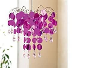"""Chic"" Pink Ceiling Light Chandelier by Beam Feature by Home Discount"