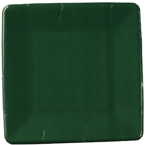 "Hunter Green Square Dessert Plates (7"")(18 Pack)"