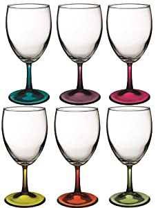 Baroque Coloured Wine Glasses 6 Piece Set Blue Purple