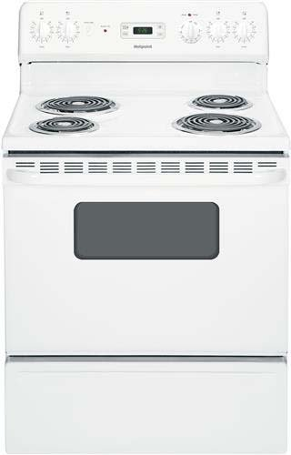 """Hotpoint Rb526Dhww 30"""" White Electric Coil Range front-533826"""