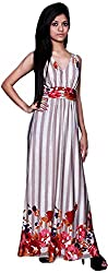 Trendz Today Women's Long Gown (GT03, Peachpuff, Large)