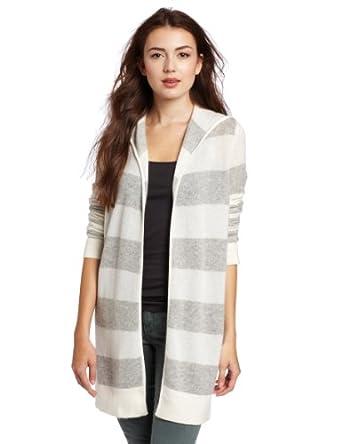 Christopher Fischer Women's 100% Cashmere Striped 女士羊绒开衫3色$65.11