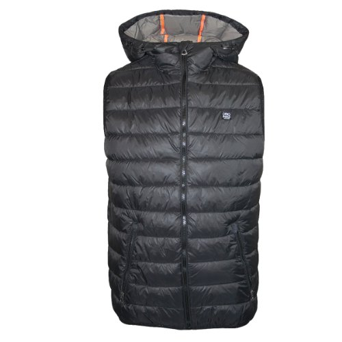 Mens Jack & Jones Jeans Noise Solid Body Warmer Hooded Gilet Jacket Size XL
