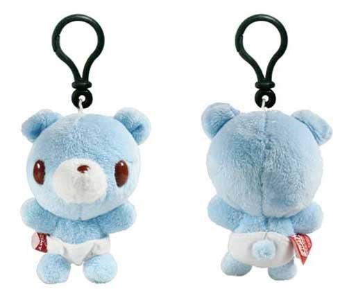 """Baby Gloomy Bear 3"""" Clip-On Plush Blue"""