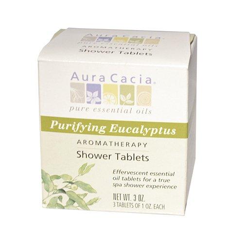 Aura Cacia Purifying Aromatherapy Shower Tablets Eucalyptus 3 Tablets
