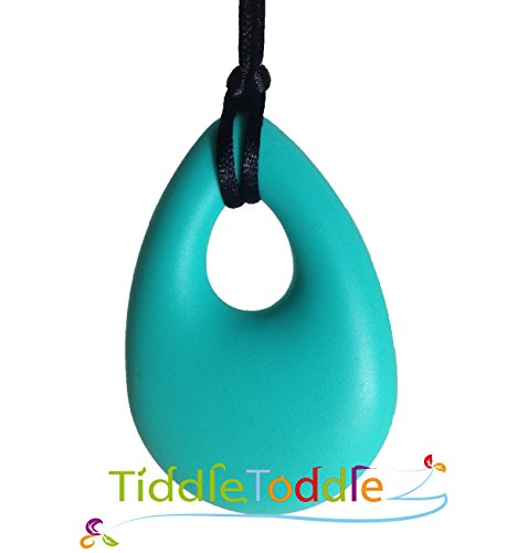 Teething Necklace Jewelry - BPA Free Silicone Teether - Teardrop Pendant Necklace - 1