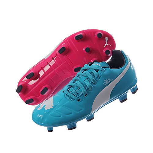 Puma evoPOWER 3 figure PU Colore Blu per Bambini Firm Ground Moulded Stud Scarpe da calcio Size 5,5