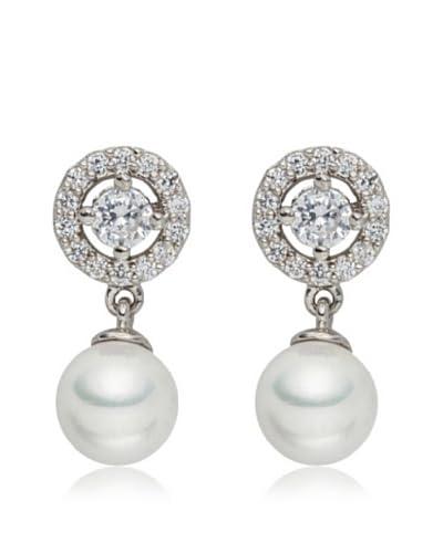 Pearls of London Pendientes  Blanco