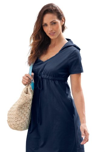 Hooded plus size dress that s a great cover-up over swimwear but also for  anytime. This hooded knee-length casual dress comes in a soft and totally  ... 5a15ad957