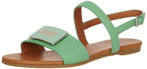 Marc By Marc Jacobs Women'S Open-Toe Flat Sandal,Green,39.5 Eu/9.5 M Us
