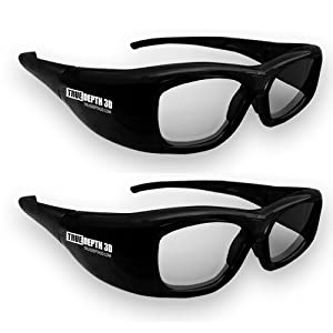 True Depth 3D Glasses for Sharp 3D TVs 2 Pairs (Supports Infrared and Bluetooth - Compatible with 2010, 2011, 2012, 2013 and Current Sharp 3D TVs) by True Depth 3D