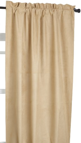 Eclipse Suede 42-Inch by 63-Inch Thermaback Blackout Panel, Gold