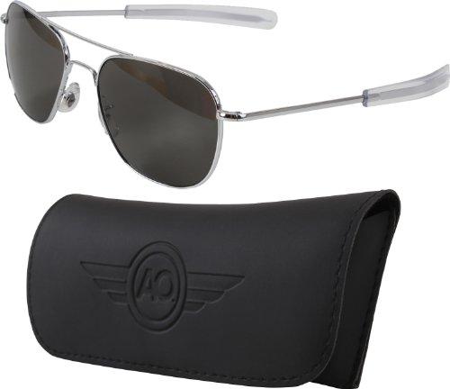 "Fox Gi ""Original Af Pilots"" Sunglasses, Silver, 57Mm"
