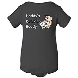 Daddy's Drinking Buddy One Piece Romper Baby Bodysuit