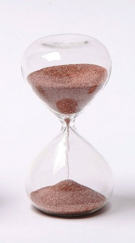 G.W. Schleidt STC10-DR 4-Inch 5-Minute Glass Sand Timer with Deep Red Sand (Gw Schleidt Timer compare prices)