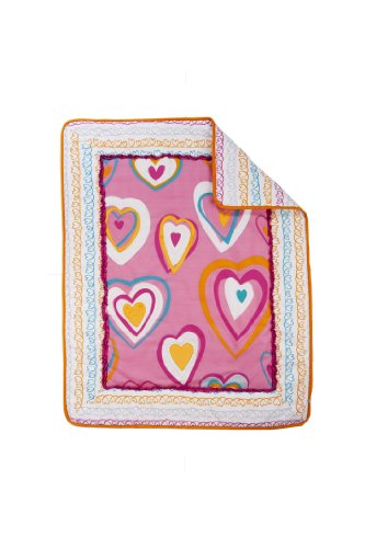 Zutano Crib Set, Hearts, 4 Piece (Discontinued by Manufacturer)