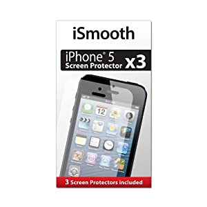iSmooth iPhone 5 Screen Protector - 3 Pack - Highest Rated Premium Quality