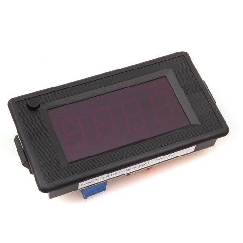 Generic Digital Dc 200V/50A Red Led Panel Ammeter Meter Adjustable Current Voltage
