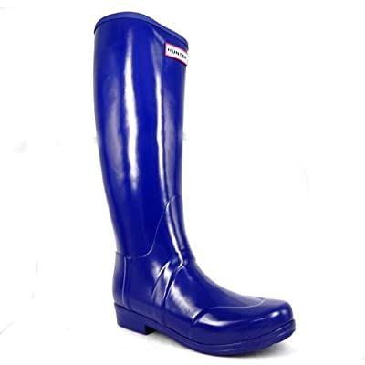 Hunter Boots Regent Nylon Womens Wellies-Blue