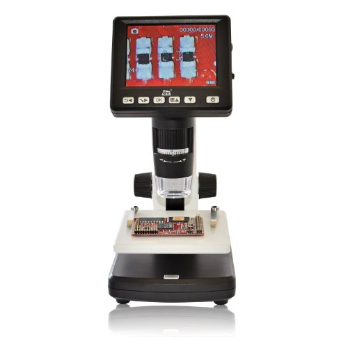 3.5 Inches Standalone 500X 5M Lcd Mini Usb Microscope With Photo/Video Measurement Battery Powered