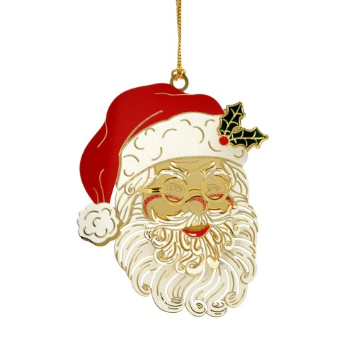 ChemArt Santa Face Ornament