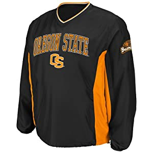 NCAA Oregon State Beavers Men's Slider Coaches Long Sleeve Pullover Jacket, Black