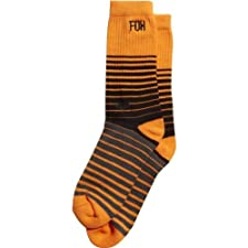 Fox Racing Shock No Show Socks - Small/Medium/Day Glo Orange
