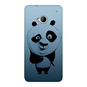 Impressive Panda Puzzled Multicolor Back Case Cover for HTC One M7