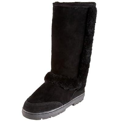 BEARPAW Women's Eskimo Shearling Boot,Black,5 M US