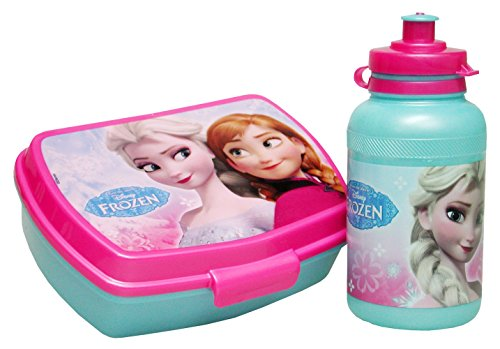 Porta Merenda Borraccia Frozen Lunch Box e Water Bottle Gift Set Anna e Elsa CER