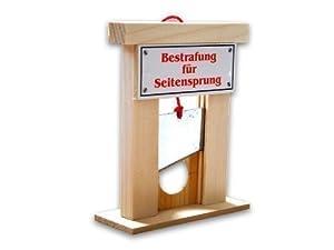 Guillotine als Bestrafung für den Seitensprung