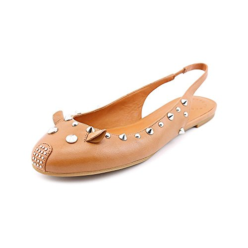 Marc By Marc Jacobs 645028 Womens Size 10 Tan Leather Slingbacks Heels Shoes