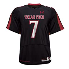 Buy NCAA Mens Texas Tech Red Raiders #7 Black College Replica Football Jersey by Under Armour