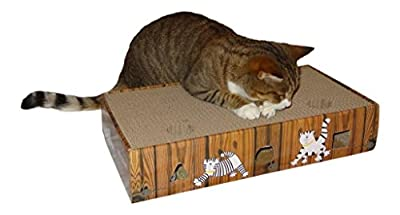 ENVIRONMENTALLY FRIENDLY CAT SCRATCHER & ACTIVITY TOY including CATNIP and TOYS