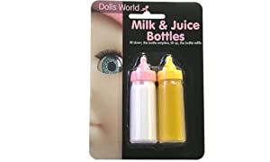 Dolls World Milk & Juice Bottles