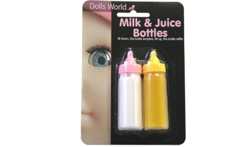 Dolls World Biberon giocattolo per latte e succo